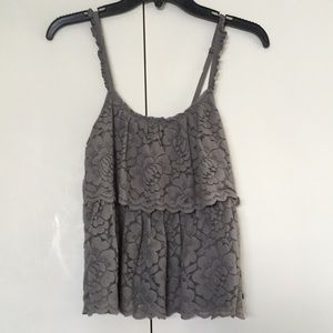 Abercrombie & Fitch Lace Tank w/ Adjustable Strap
